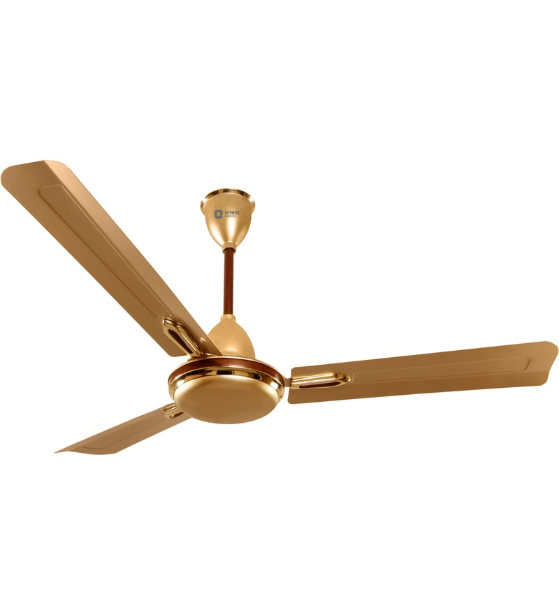 Orient Quasar Ornamental 1200 mm Golden Chocolate Designer Ceiling Fan