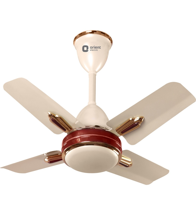 Orient Quasar Ornamental Metallic Ivory & Cherry 600mm Designer Ceiling Fan