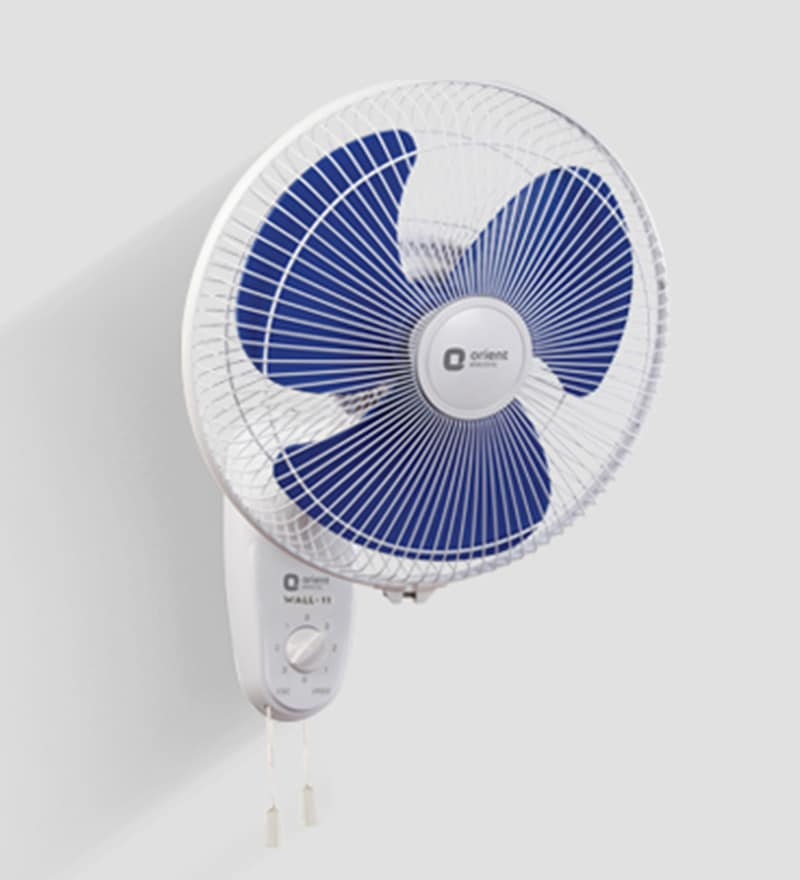 Orient Wall-11 300 mm White & Blue Wall Mounted Fan