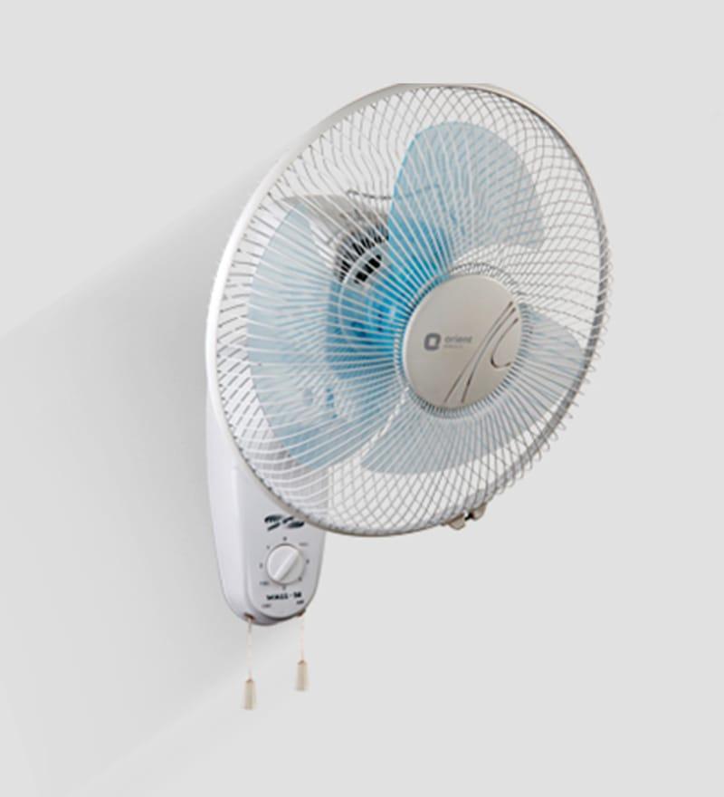 Orient Wall-14 Hi-Speed 300 mm White & Blue Wall Mounted Fan