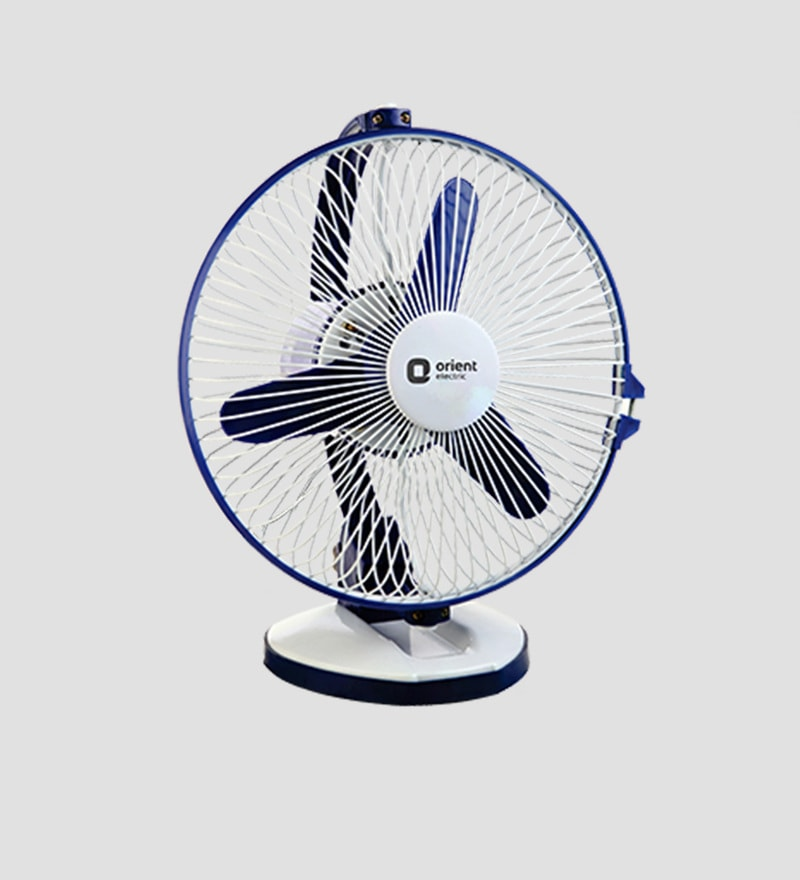 Orient Zippy 225 mm White & Blue Table Fan