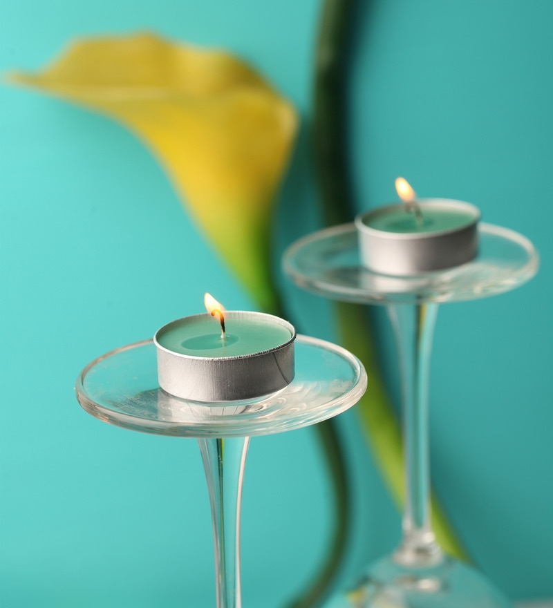 Set of Sap Green Tealight Candle - Set of 10 by Orlando's Decor