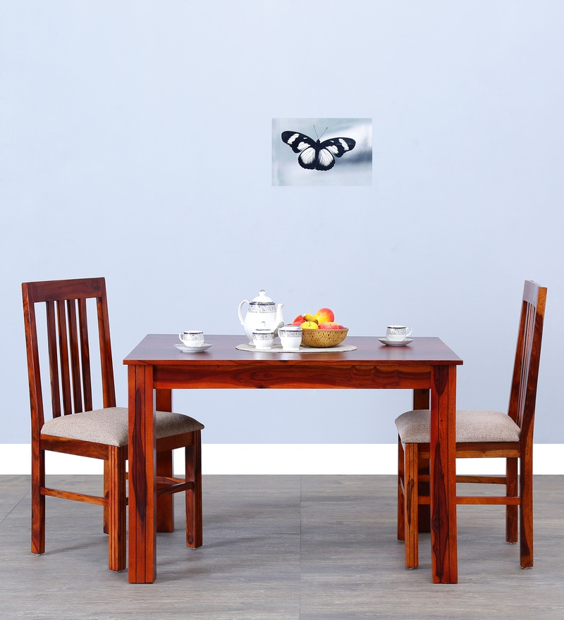 Oroville Two Seater Dining Set in Honey Oak Finish by Woodsworth