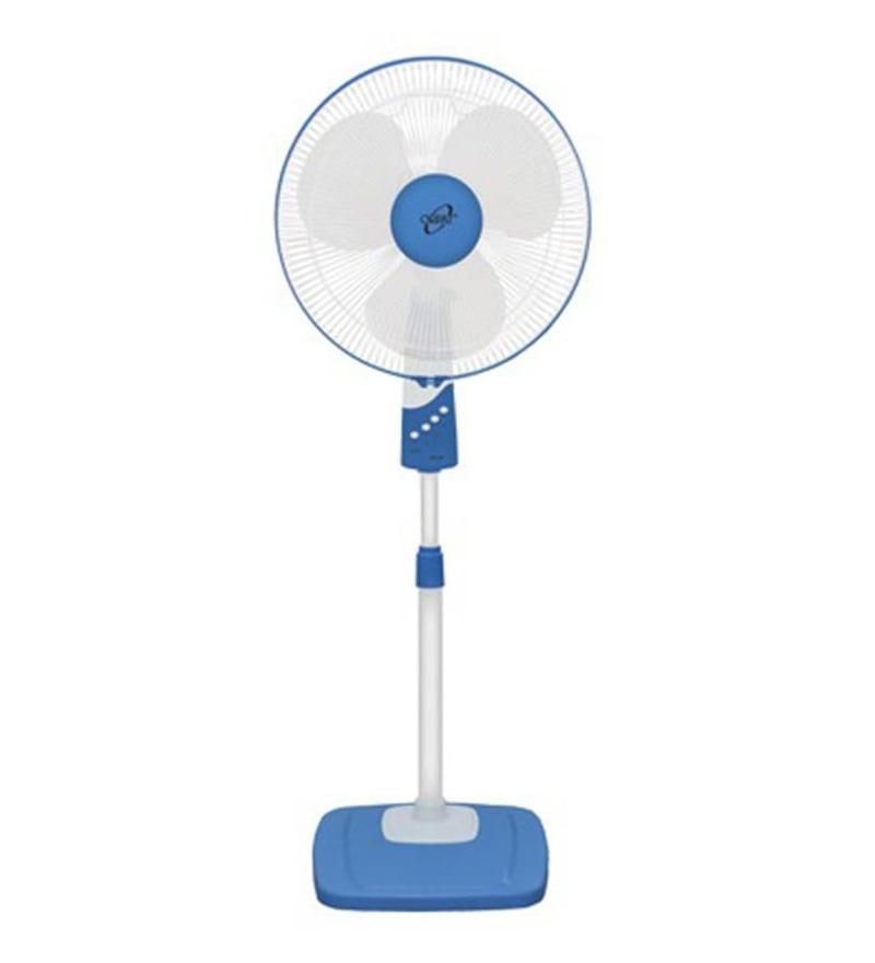 Orpat Opf-3607 400 mm White & Blue Pedestal Fan