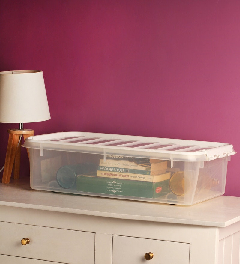 Orthex Polypropylene Transparent 35 L Storage Box with Lid