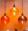 Brown Iron and Glass Vial Hanging Lamp by Orange Tree