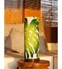 Green and White Cotton Rokko Table Lamp by Orange Tree