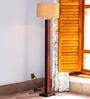 Off White Jute Groovy Floor Lamp by Orange Tree
