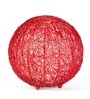 Red Iron Table Lamp by Orange Tree