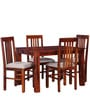 Oroville Four Seater Dining Set in Honey Oak Finish by Woodsworth