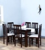 Oroville Six Seater Dining Set in Warm Chestnut Finish by Woodsworth