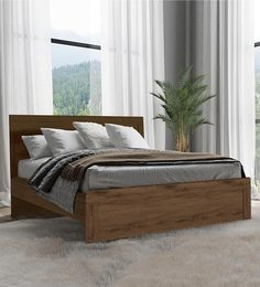 Osumi King Size Bed In Coffee Finish