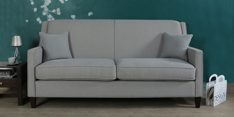 Buy Oritz Three Seater Sofa With Cushions In Chestnut Brown Colour By CasaCraft Online