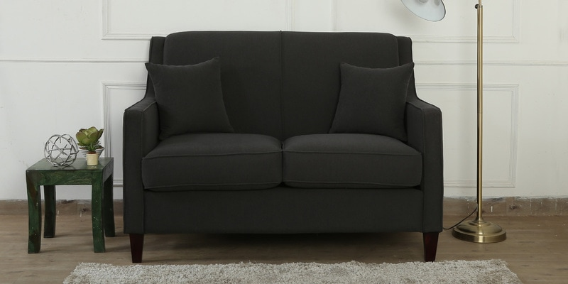Oscar Two Seater Sofa in Charcoal Grey Colour by CasaCraft