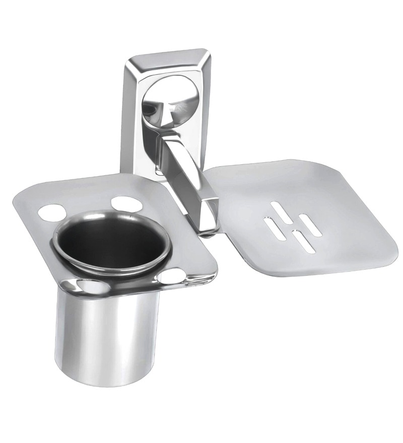 Osian Glossy Stainless Steel Bathroom Fixture