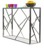 Oscar Console Table with Clear Glass by Durian