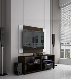 Otoko Entertainment Unit With Back Panel In Brown Finish
