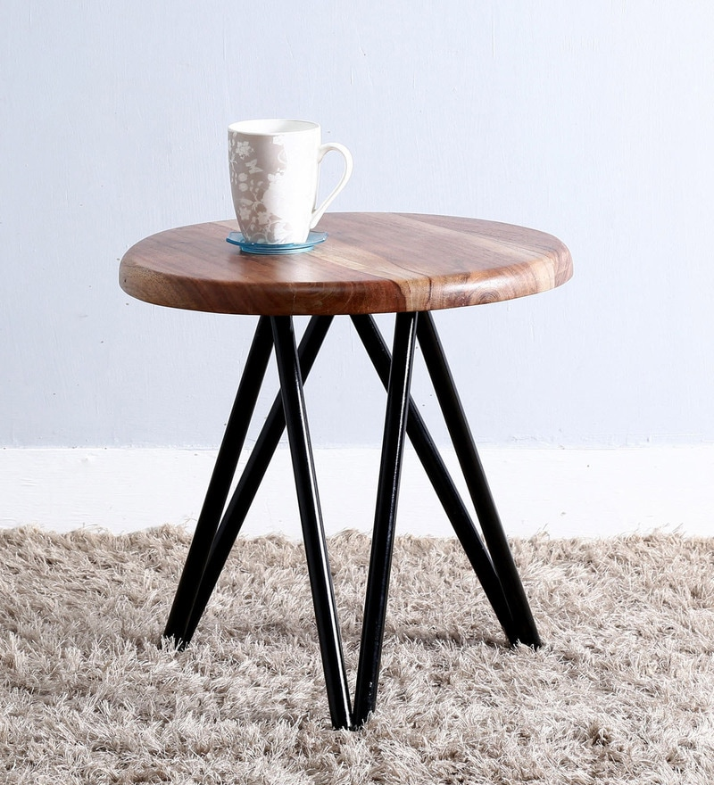 Otish End Table in Black Color by Bohemiana