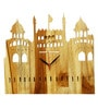 Divine Decor Brown Teak Wood 11 x 0.3 x 12 Inch Wall Clock