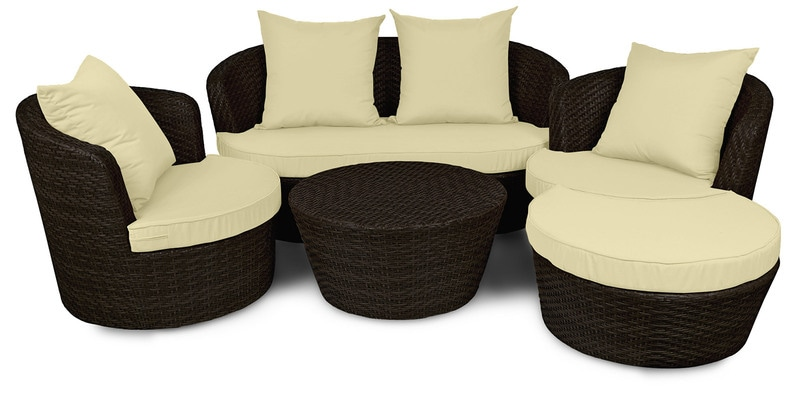 Outdoor Sofa Set (2S + 1S + 1S + CT + ST) by Svelte