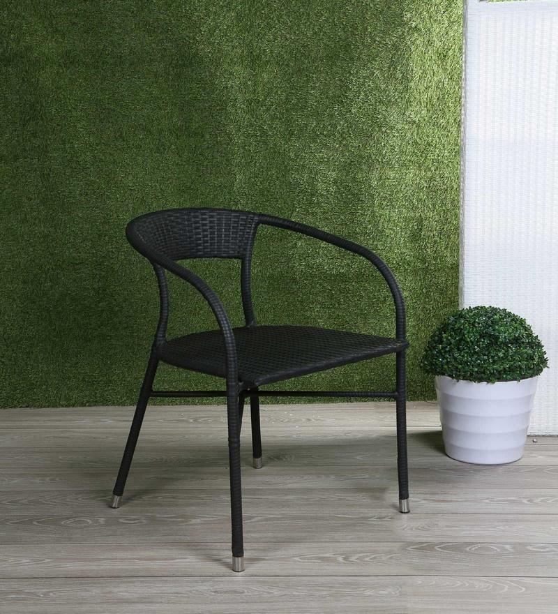 Bon Outdoor Chair In Black Colour By Ventura