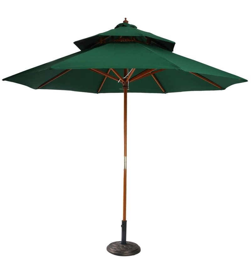 Buy Outdoor Luxury Wooden Centre Pole Patio Umbrella In
