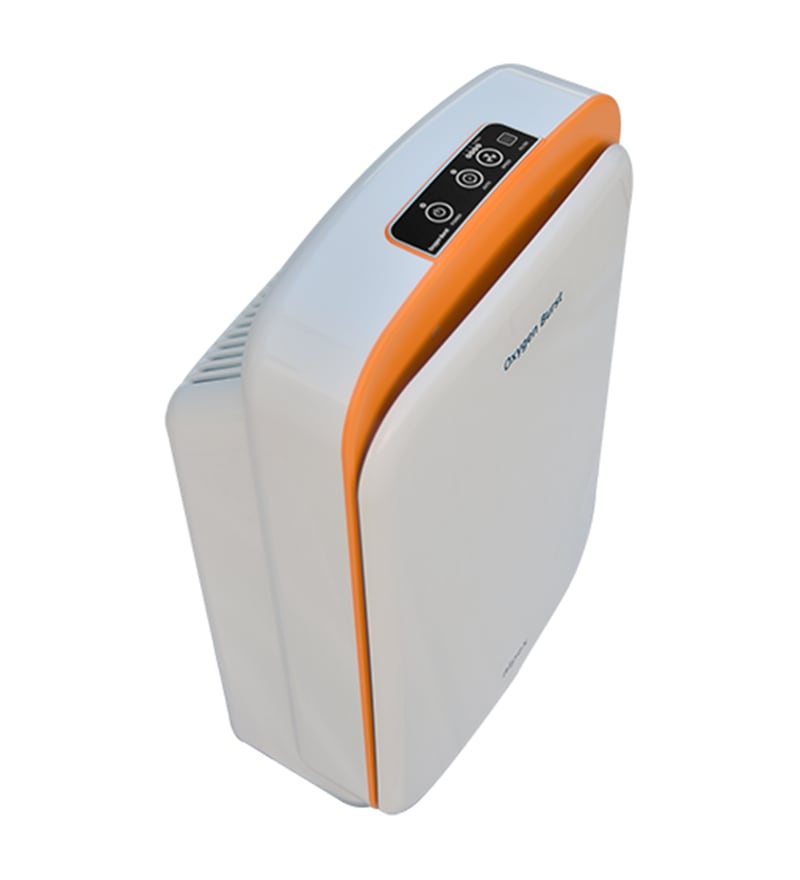 Oxygen Burst Portable Room Air Purifier (White & Orange)