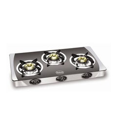 Padmini CS- 3 GT A Crystal Black Gas Stove at pepperfry
