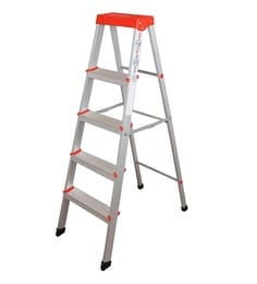 Parasnath EasyDay 4 Step 4.2 Ft Light Weight Aluminium Heavy Duty Folding Ladder