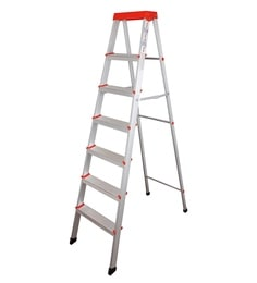 Parasnath EasyDay 6 Step 6.2 Ft Light Weight Aluminium Heavy Duty Folding Ladder