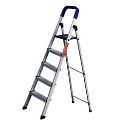 Parasnath Home Pro 5 Step 5.1 Ft Light Weight Aluminium Heavy Duty Folding Ladder