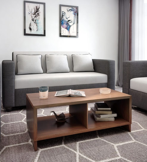 Buy Pascal Centre Table In Walnut Color By Home Online Modern Rectangular Coffee Tables Tables Furniture Pepperfry Product