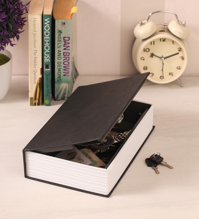 Black Metal 10 x 6 x 2.5 Inch Dictionary Book Safe by PackNBUY