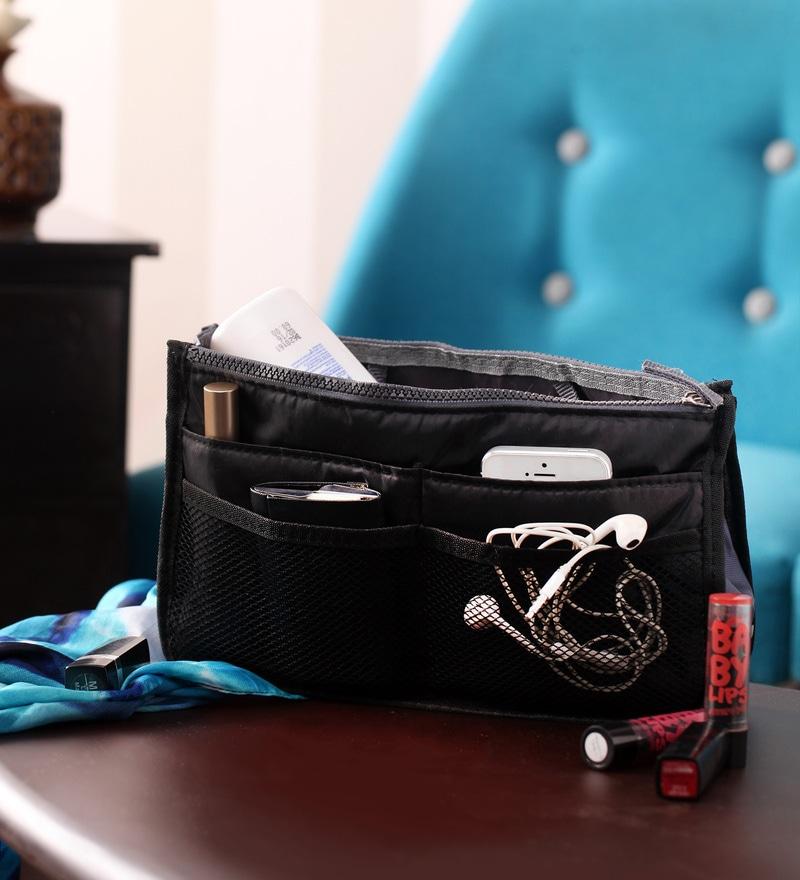 Packnbuy Nylon Black Purse Switcher Handbag Organiser