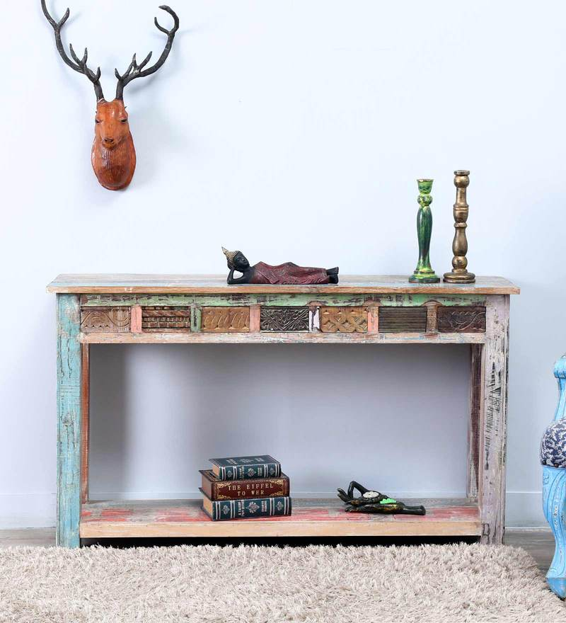 Zack Console Table in Distress Finish by Bohemiana
