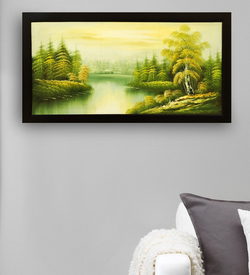 Canvas 40 x 0.5 x 28 Inch Natural Scenery Hand Framed Paintings by Gallery99