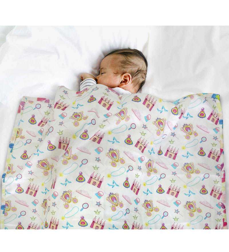 Paper Rockets Fairy Baby Multicolour Cotton Coverlet for Girls
