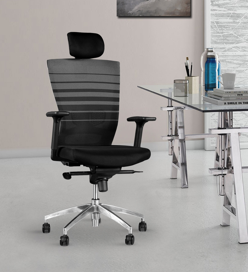 Ergo High Back Ergonomic Chair in Black Colour by HomeTown