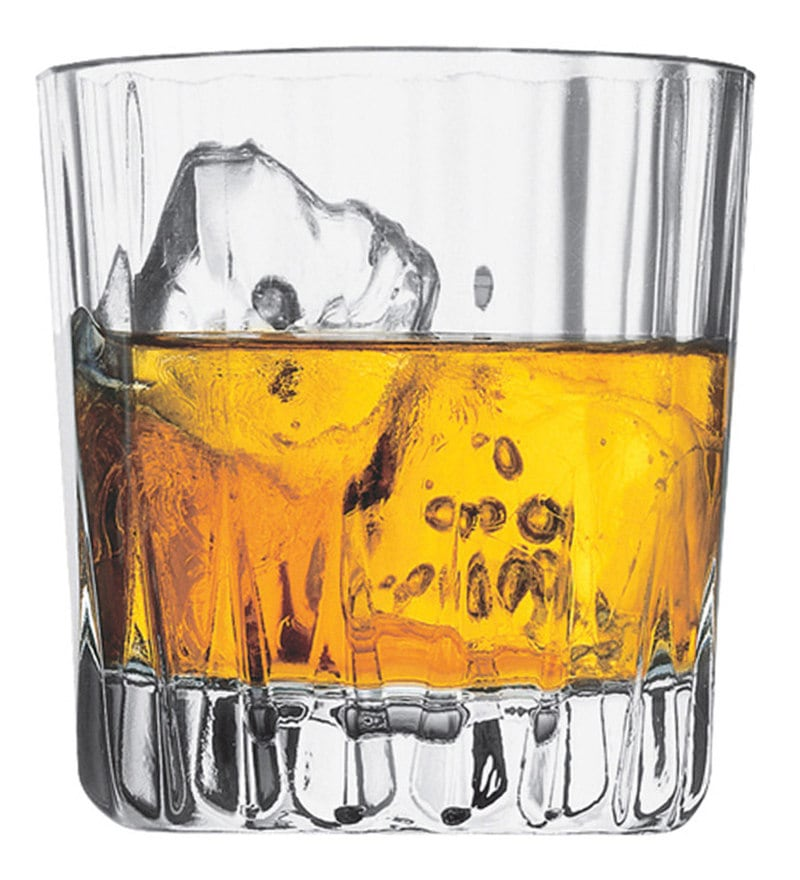 Pasabahce Antalaya 300 ML Whisky Tumbler Glasses - Set of 6