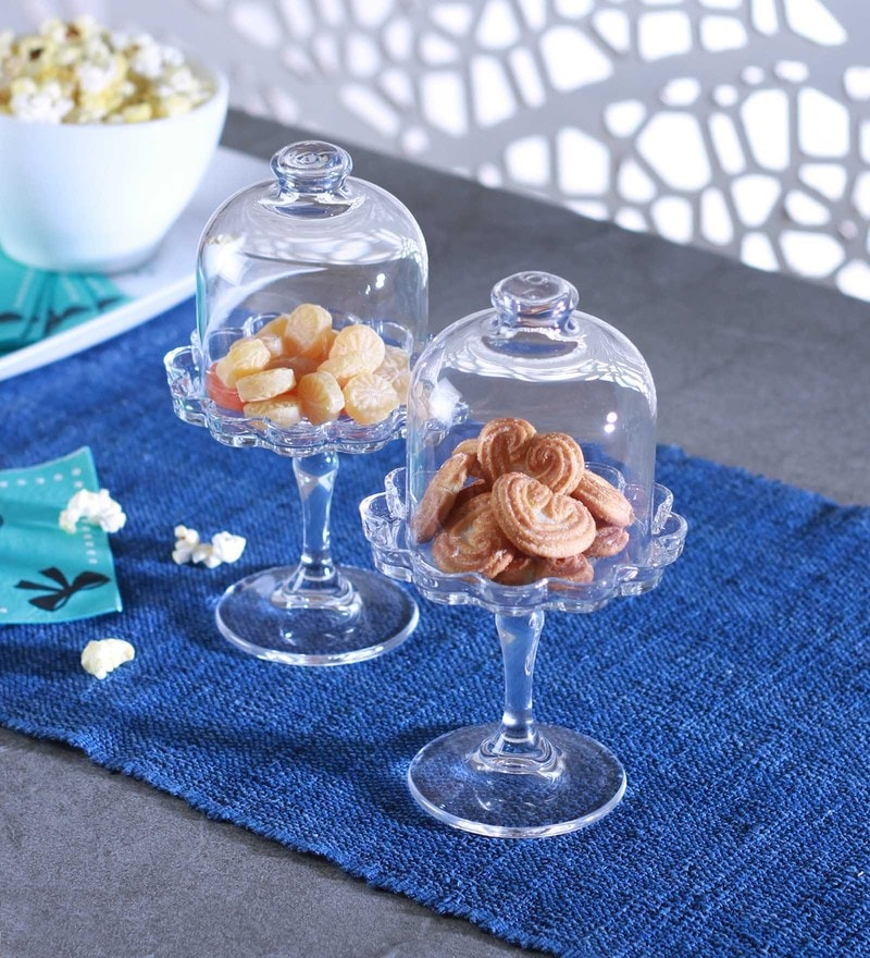 Pasabahce Glass Mini Patisserie Plates - Set of 2