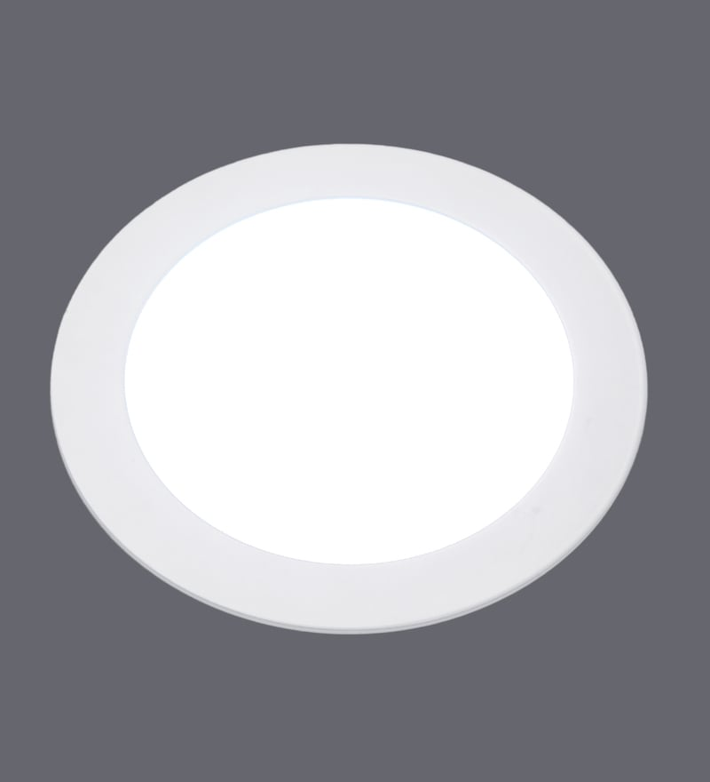 White 12W Acrylic Recessed Light by Patco Electricals