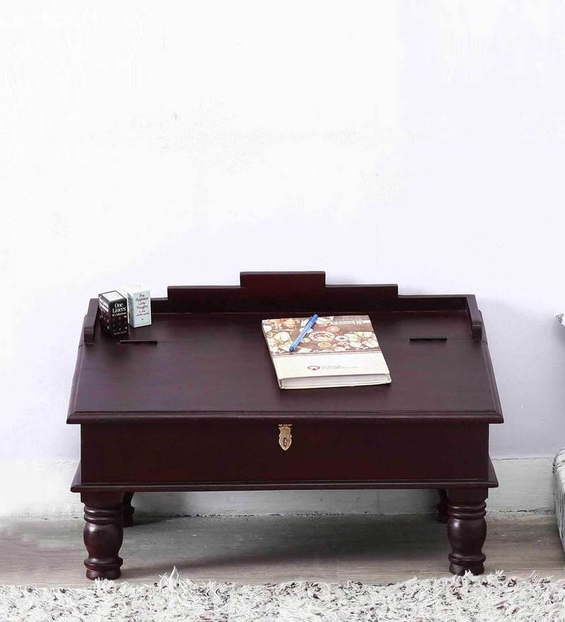 Pathana Writing Desk in Passion Mahogany Finish by Mudramark