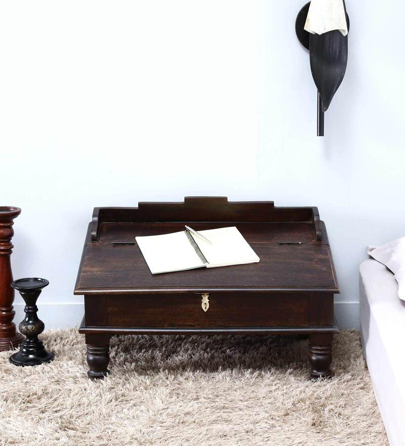 Pathana Writing Desk in Warm Chestnut Finish by Mudramark