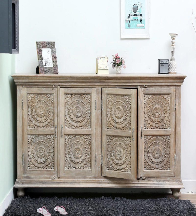 Paulini Sideboard in White Distress Finish by Bohemiana
