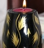 Ethnic Clock Makers Multicolour Solid Wood Tea Light Holder