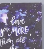Pannaa Canvas 10 x 1 x 12 Inch Love You More Than Stars Framed Poster