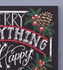 Pannaa Canvas 10 x 1 x 12 Inch Merry & Happy Framed Poster