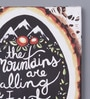 Pannaa Canvas 10 x 1 x 12 Inch Mountains Are Calling Framed Poster