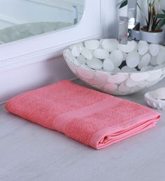Pink 100% Cotton Bath Towel - 1644755