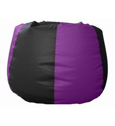Pebbleyard XXXL Classic Black And Purple Bean Bag - With Beans